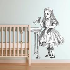 new born oakdenedesigns com drink me alice in wonderland wall sticker