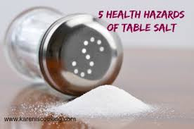 what s the difference between table salt and sea salt health risk of table salt
