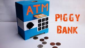 How To Decorate A Small House With No Money by How To Make An Mini Atm Piggy Bank At Home Easy To Make Just 5