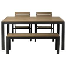 small dining table set with bench room kitchen black withench seat