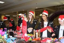 students stuff 600 stockings for children high point university