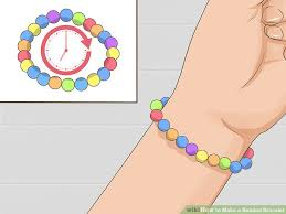 make bracelet with beads images 4 ways to make a beaded bracelet wikihow jpg