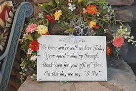 wedding memorial sign unique memorial table ideas