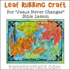 leaf with water color bible craft for jesus never changes