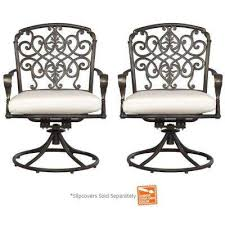 Swivel Patio Dining Chairs Swivel Outdoor Dining Chairs Patio Chairs The Home Depot