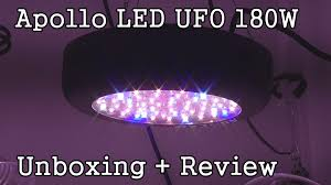 ufo led grow light apollo led ufo 180w grow light unboxing initial review youtube