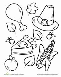 color the thanksgiving symbols worksheet education