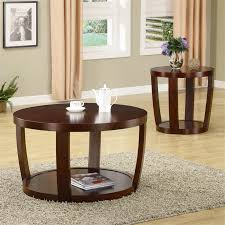 end tables cheap prices coffee table in rich cherry finish by coaster 701318