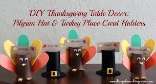 diy thanksgiving table decor turkey pilgrim hat place card
