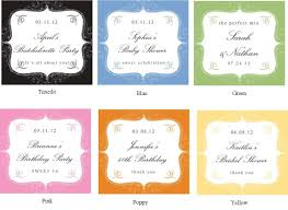 labels for wedding favors personalized cupcake mix