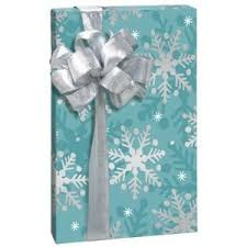 Amazon Com Gift Wrap - amazon com christmas snowflakes aqua silver white gift wrap
