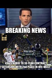 Niners Memes - lars hanson on twitter another seahawks meme adamschefter with