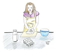qui cuisine illustration d une fille qui cuisine croquis dessins et