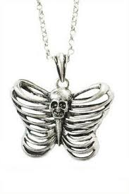 butterfly skull rib cage pendent each hotest