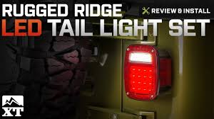 Jeep Tj Led Tail Lights Jeep Wrangler 1987 2006 Yj U0026 Tj Rugged Ridge Led Tail Light Set