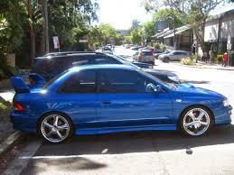 old subaru impreza hatchback aussie old parked cars 1999 subaru impreza wrx sti coupe