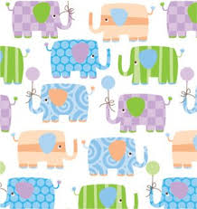 baby elephants gift wrapping roll 24 x 15 baby