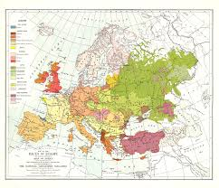 Geographical Map Of Europe by Races Of Europe Map