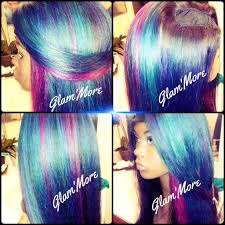 show me hair colors mermaid hair color upart wig youtube