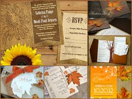 fall themed wedding invitations casadebormela com