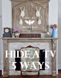 Decorations Tv Over Fireplace Ideas by Best 25 Hide Tv Over Fireplace Ideas On Pinterest Barn Door