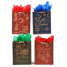 christmas paper bags large kraft rustic holidays christmas gift