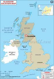 Map Of Ireland And England by Where Is Glasgow Location Of Glasgow