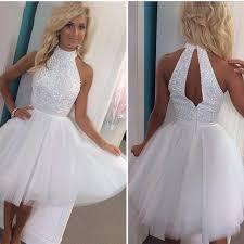 white graduation dresses for 8th grade 8th grade prom dresses 2016 knee length homecoming dresses white