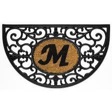 Unique Doormats Floor Fresh Design Of Monogram Doormat With M Letter For Entrance