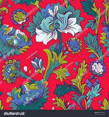 colorful seamless pattern wallpaper floral stock vector