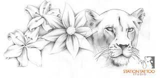 floral lioness by captine on deviantart