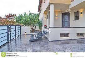 modern mediterranean house entrance stock photo image 48644750