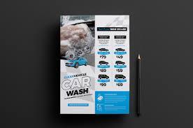 a4 car wash advertisement template for photoshop u0026 illustrator