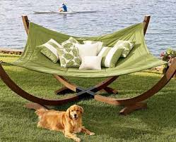 ergonomic hammock for indoor and outdoor relaxing backyard ideas
