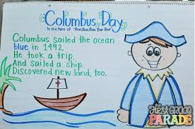 columbus day columbus sailed the ocean blue in 1492 he took a