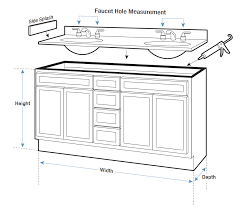 bathroom sink size guide vanity tops buying guide hayneedlecom standard size bathroom double