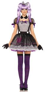 Marionette Doll Halloween Costume Dead Eye Dolly Creepy Doll Costume Includes Babydoll Apron