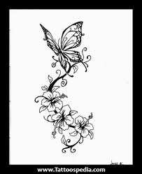 tribal blue butterfly tattoo design