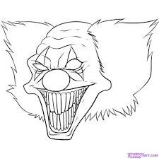 scary clown drawing drawing pencil