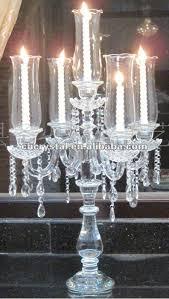 candelieri in cristallo 5 bracci unico matrimonio candelabri di cristallo con fiori