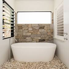river stone bathroom decor single sink vanity cabinet white beside