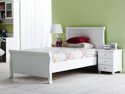 White Single Sleigh Bed Finelymade Furniture