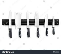 variety kitchen knives black handle on stock vector 610923527