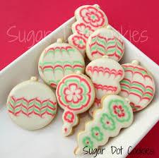 christmas sugar cookies with royal icing christmas lights decoration
