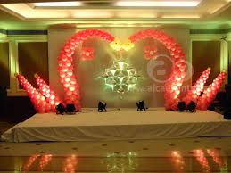 aicaevents india balloon decorations with different stage back drops