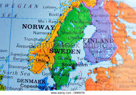 map of sweden map of sweden stock photos map of sweden stock images alamy