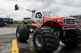 monster truck video red dragon ford 350 monster truck joins top gear live video