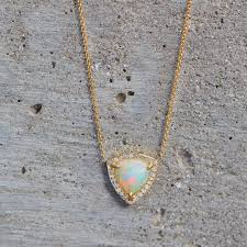 white opal necklace images Wilderness trillion rose cut white opal necklace w diamonds jpg