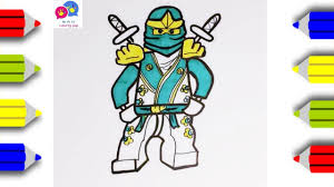 how to draw lego ninjago coloring pages for kids an pi tv youtube