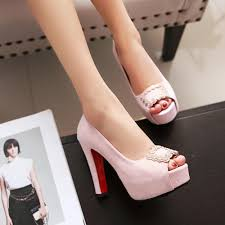 thick with fish mouth single shoes with large size shoes high
